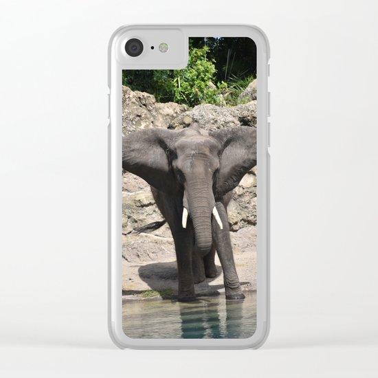 Elephant Ears Clear iPhone Case