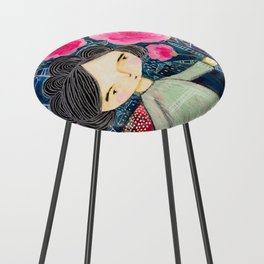 Quilted Princess Counter Stool