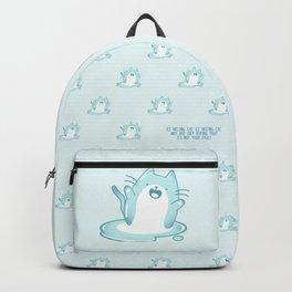 Kawaii Ice melting cat pattern Backpack