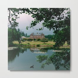 Rainclouds over Lynford Hall Metal Print