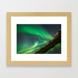 Aurora Borealis - Northern Lights over Iceland Framed Art Print