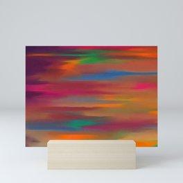 Lucid varying orange Mini Art Print