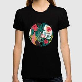 Matisse Inspired Pop Art Tropical Fun Jungle Pattern T-shirt