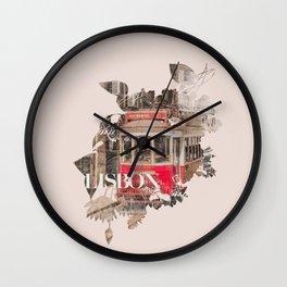 Lisbon red tram  Wall Clock