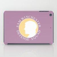sam winchester iPad Cases featuring Alt. Sam Winchester Defense Squad by Golden Irises