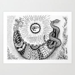 Mythical Luna Art Print