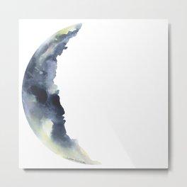 Crescent Moon Watercolor Metal Print