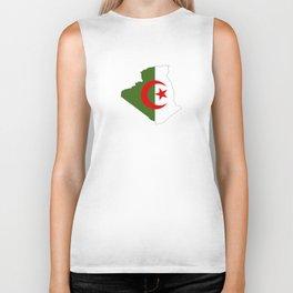 algeria flag map Biker Tank