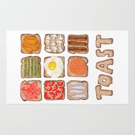 Breakfast Toast Rug