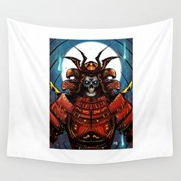 Skull Samurai Wall Tapestry