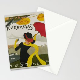 Advertisement avranches st jean le thomas Stationery Cards