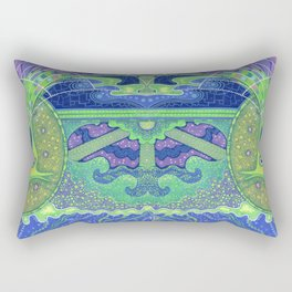 Dream of the fullmoon (mirrored version) Rectangular Pillow