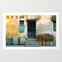 ANTIQUE CHINESE SOUND of HOI AN in VIETNAM Art Print