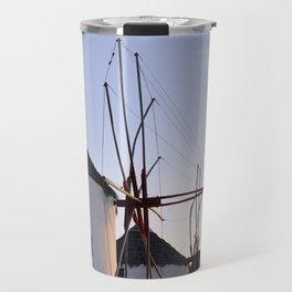 Famous Mykonos Windmills in Greece Travel Mug