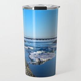Bridge across the Ice Lagoon Iceland Travel Mug