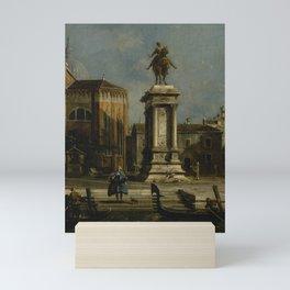Canaletto - View of the Santi Giovanni e Paolo and the Equestrian Statue of Bartolomeo Colleoni Mini Art Print