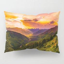 Beautiful Sunset Mountains Valley Landscape Pillow Sham