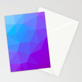 geometric triangle pattern blue purple Stationery Cards