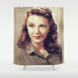 Evelyn Ankers, Vintage Actress Shower Curtain