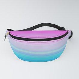 Pink & Aquamarine Blue Stripes Fanny Pack