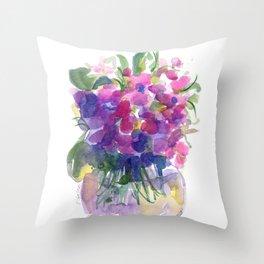 Little Pink Violets Throw Pillow