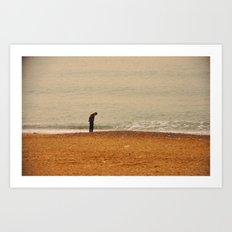 Beach Contemplation Art Print