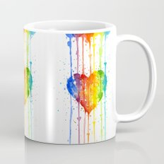 Heart Rainbow Watercolor Love Wins Colorful Splatters Mug