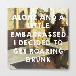 The Absinthe Drinker (1859), Édouard Manet // The Great Gatsby (2013), Baz Luhrmann Metal Print