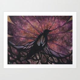 Crow Beginnings Art Print