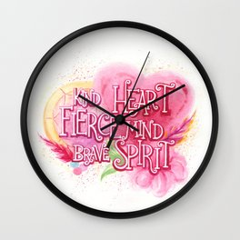 Heart, Mind, & Spirit Wall Clock
