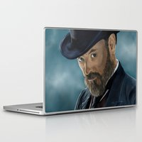 moriarty Laptop & iPad Skins featuring Professor Moriarty by San Fernandez