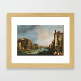 Canaletto Bernardo Bellotto - The Grand Canal In Venice Framed Art Print
