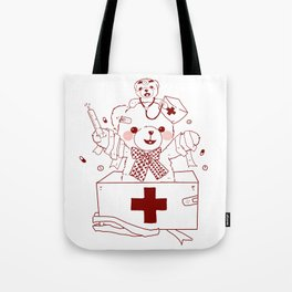 The Adventures of Bear and Baby Bear-Who's hurt? Tote Bag