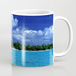 Tahiti Island Waters Over Big, Dramatic Tropical Sky Coffee Mug