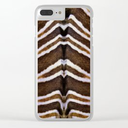 whit and brown pattern Clear iPhone Case