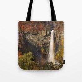 Kegon Falls near Nikko, Japan in autumn Tote Bag