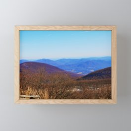 The Blue Ridge Mountains Virginia Framed Mini Art Print