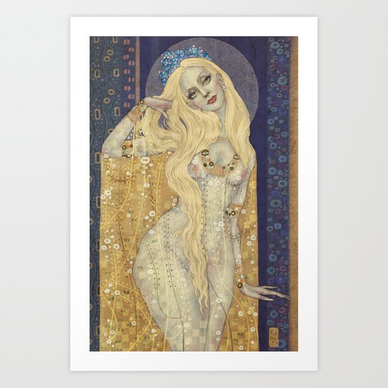 Golden Gown Art Print