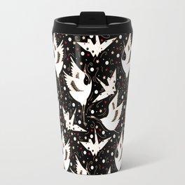 Origami Crane Metamorphosis (Noir) Travel Mug