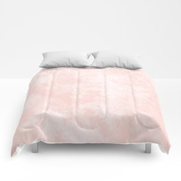 Pink Coral Marble Comforters