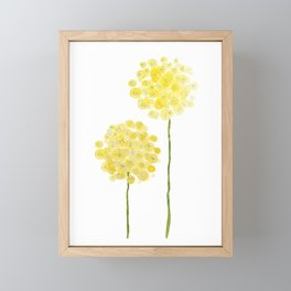 two abstract dandelions watercolor Framed Mini Art Print