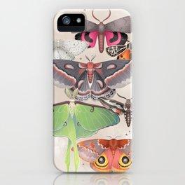 Magical Moths - Light iPhone Case