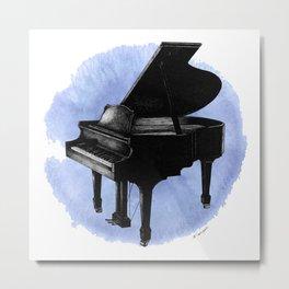 Blue Piano Metal Print
