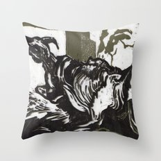 Sheep in Labor Throw Pillow