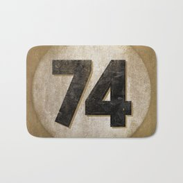 Vintage Auto Racing Number 74 Bath Mat