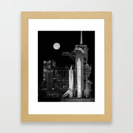 Space Shuttle Discovery On Launch Pad Framed Art Print