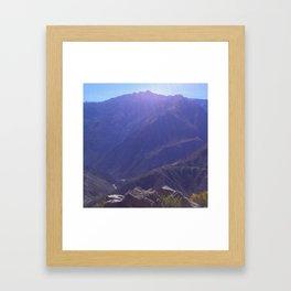 Top of the Rockies Framed Art Print