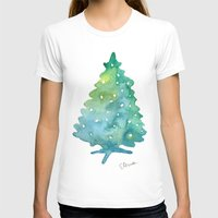 christmas tree T-shirts featuring Christmas Tree by Elena Sandovici