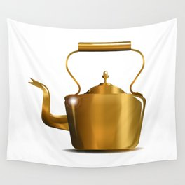 Victorian Copper Kettle Wall Tapestry