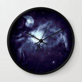 Orion Nebula Deepest Blue Wall Clock